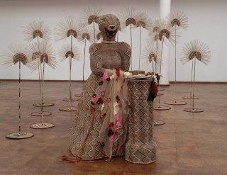 Delaine Le Bas, Kumvwa Kukumuna Kwake (Hear Her Roar) (2014), mixed media installation and soundscape by Justin Langlands.