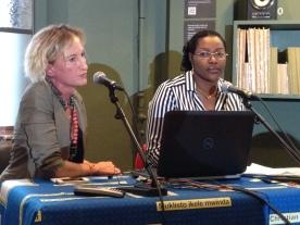 Kathleen Louw and Chantal Eboko, Union des Femmes Africaines, Belgique