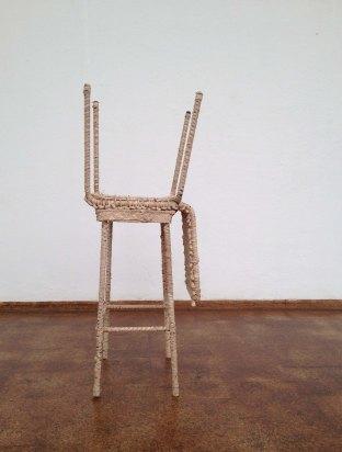 Alexandra Bircken, Stool and Chair (2014), mixed media.