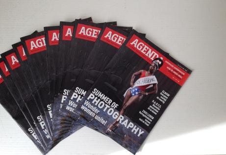 Agenda magazine featuring work by Zanele Muholi