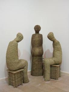 Ahmad Askalany, Those who pray, 2009. Iron and palm leaves.