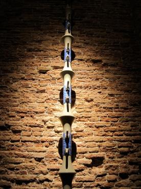 Kader Attia, La Colonne Sans Fin (detail), 2010, megaphones, 34 × 24 × 24 cm each.