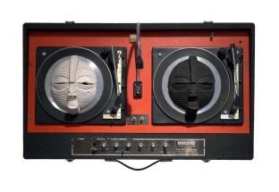 Zak Ové, CULTURE REMIX, 2013. 1970s turntable, cast Jesmonite African mask. Courtesy the artist.