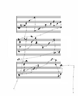 Michel Paysant. VOX SILENTII (Eye Composing), 2010-2015. Music scores. Courtesy the artist.