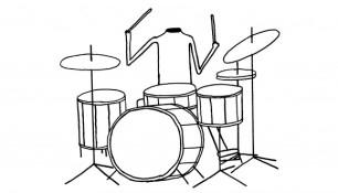 David Shrigley, Headless Drummer, 2012. Courtesy of the artist, Stephen Friedman Gallery (London), Anton Kern Gallery (New York), Galerie Francesca Pia (Zurich), BQ (Berlin) and Galleri Nicolai Wallner (Copenhagen).