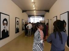 Exhibition opening at the Zimbabwe Pavilion.