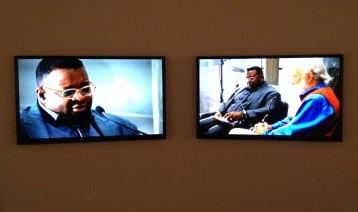 Isaac Julien, Kapital, 2013. Double-HD monitor installation, colour, sound, 31'.