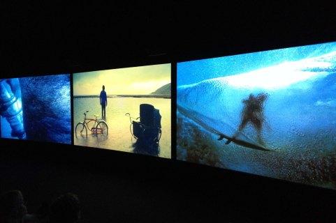 John Akomfrah, Vertigo Sea, 2015. 3-channel, HD video installation, 38'.