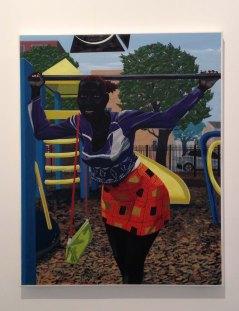 Kerry James Marshall, Untitled (Playground), 2015. Acrylic on PVC panel.