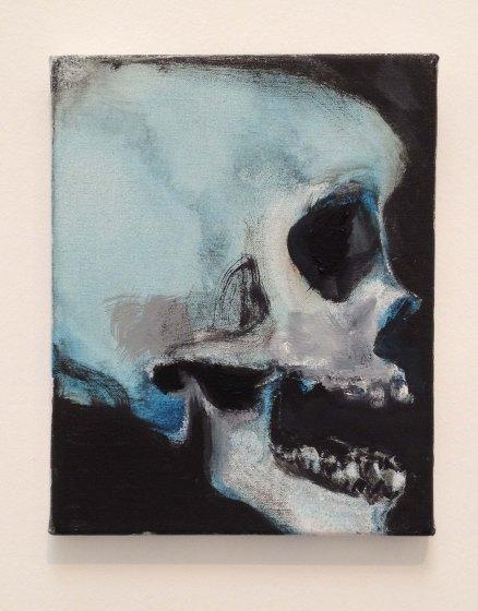 Marlene Dumas, Skulls series, 2013-2015. Detail.