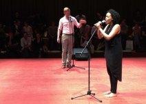 Astronautalis and Elaine Mitchener performing Sonia Boyce's Exquisite Cacophony.