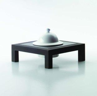 Mohamed Fayçal Guenni, Lebnine. Table set, painted wood and ceramics.