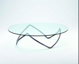 Mhedi Izemrane, Ibil. Coffee table, metal tube and glass.
