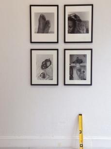 Installation of works by George Hallett. Photo: eye.on.art.