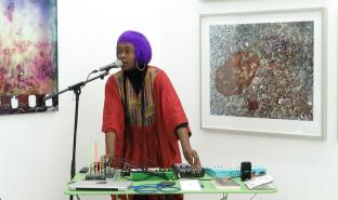 Elsa M'bala performing at Yamamoto Keiko Rochaix's Art Night event on Sat.1st July.