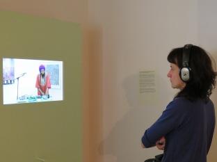 Documentation of Elsa M'bala's sound art performance during Art Night 2017 at Yamamoto Keiko Rochaix, London.